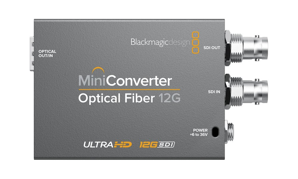 Blackmagic Mini Converter - Optical Fiber 12G (Uden SFP moduler)