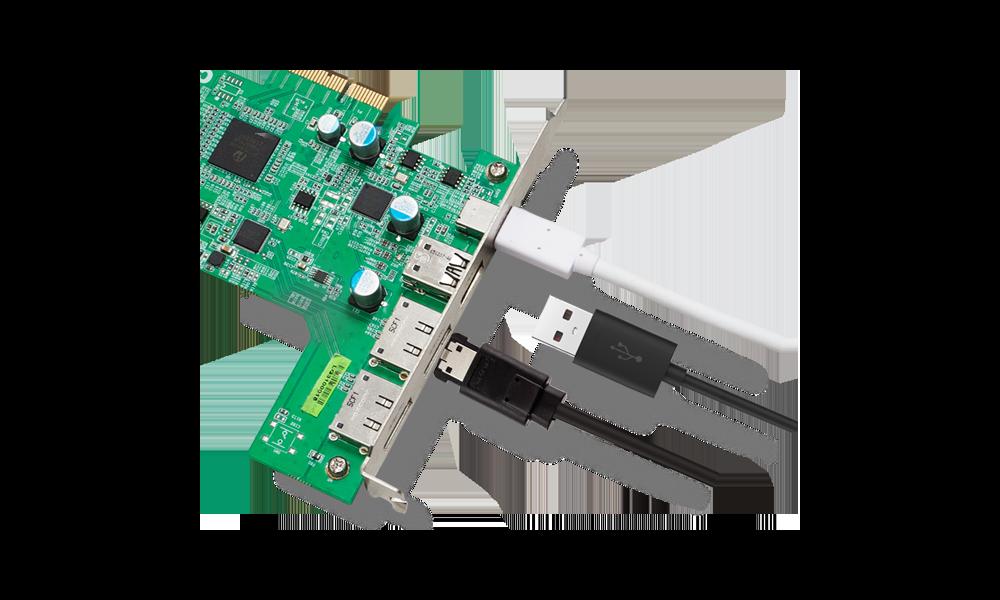 CalDigit FASTA-6GU3 Plus - 2 x eSATA 6G 1 x USB 3.1 Type-A 1 x USB 3.1 Type-C