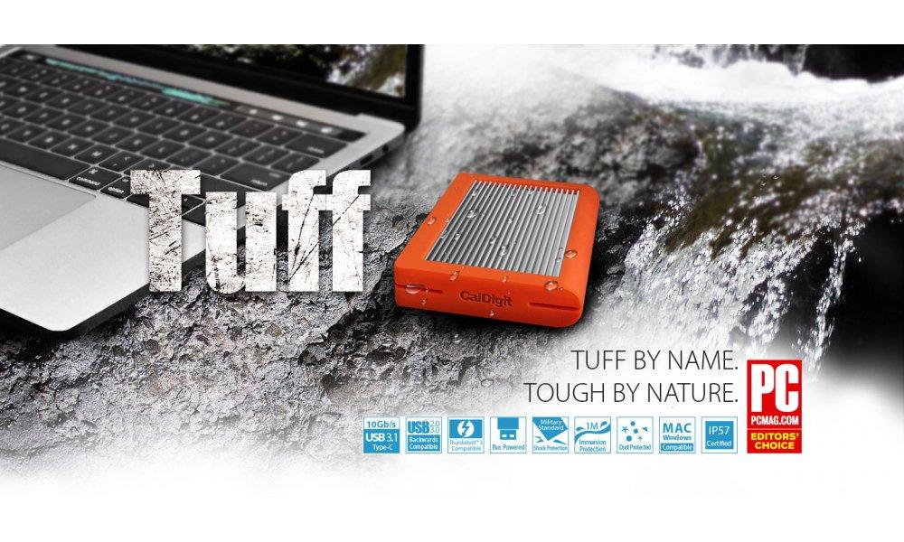 CalDigit TUFF 2TB USB-C 3.1 Orange