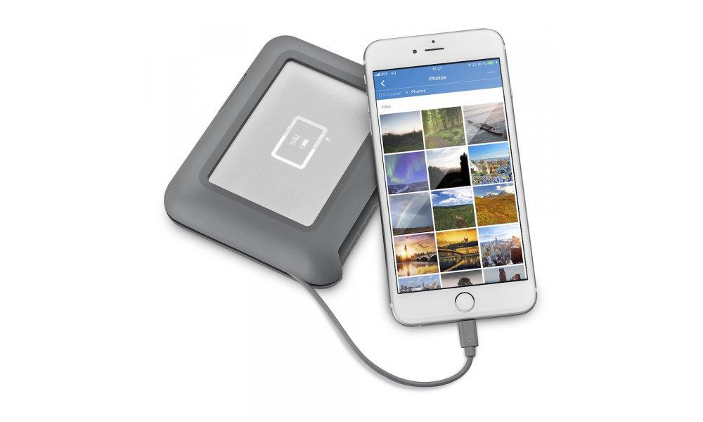 LaCie DJI Copilot USB-C 2TB batteridrevet med indbygget kortlæser