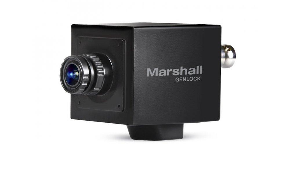 Marshall Genlock Mini Broadcast Camera with 3.6mm Interchangeable Lens - 3G/HD-SDI & HDMI Output (PAL & NTSC)
