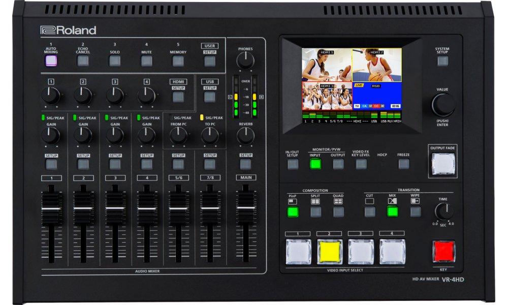 Roland AV mixer VR-4HD - 4 x HDMI input, 4 x XLR  USB streaming