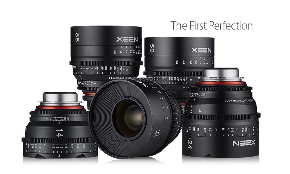 XEEN 5 Cine Prime Pakke - 14mm, 24mm, 35mm, 50mm, 85mm, inkl. Flightcase